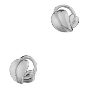 Mackintosh Leaves Silver Stud Earrings 0222